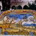 Tiled cloister of Basilica di Santa Chiara.