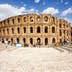 Ruins of the largest colosseum in North Africa. El Jem,Tunisia. UNESCO; Shutterstock ID 112264382