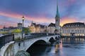 Zurich. Image of Zurich, capital of Switzerland, during dramatic sunset.; Shutterstock ID 160155083; Your name (First / Last): Josh Vogel; Project no. or GL code: 56530; Network activity no. or Cost Centre: Online-Design; Product or Project: LP.com Destination Galleries