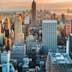Beautiful view of Manhattan during a summer sunset