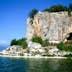 Picture of a Island Golem Grad on Lake Prespa, Macedonia