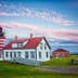 West Quoddy Lighthouse at Twilight in Lubec Maine