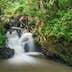 View of waterfall at Tawau Hills Park, Sabah, Malaysia