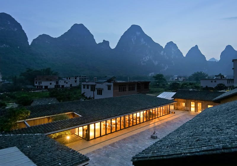 A Chinese farmstead converted to a guest house has scooped a major international award