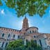 The Basilica of St. Sernin, built in Romanesque style between 1080 and 1120 in Toulouse, Haute-Garonne, Midi Pyrenees, southern France.