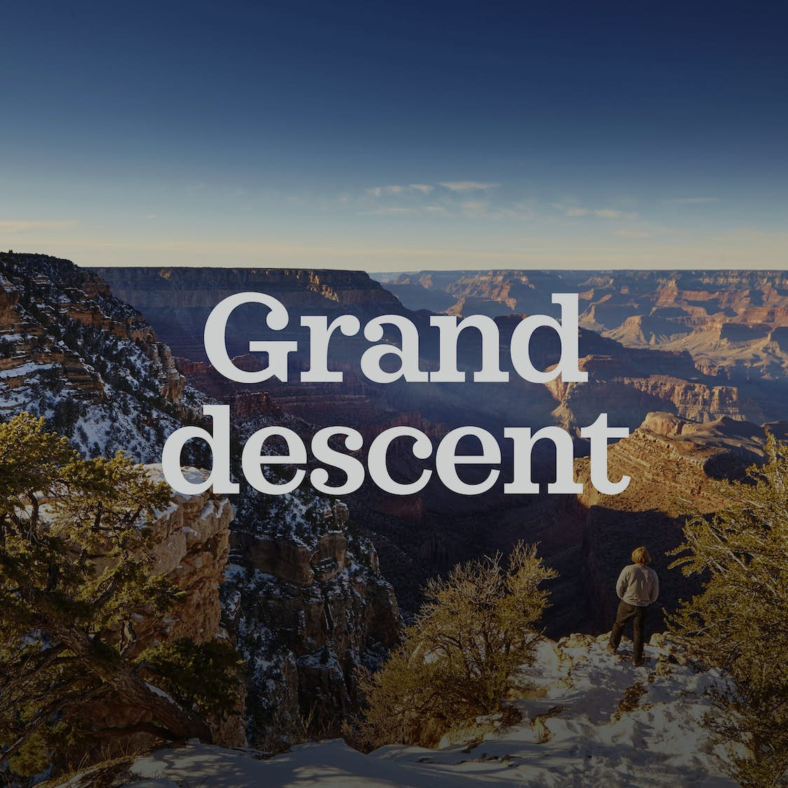 A descent into the Grand Canyon in the low season