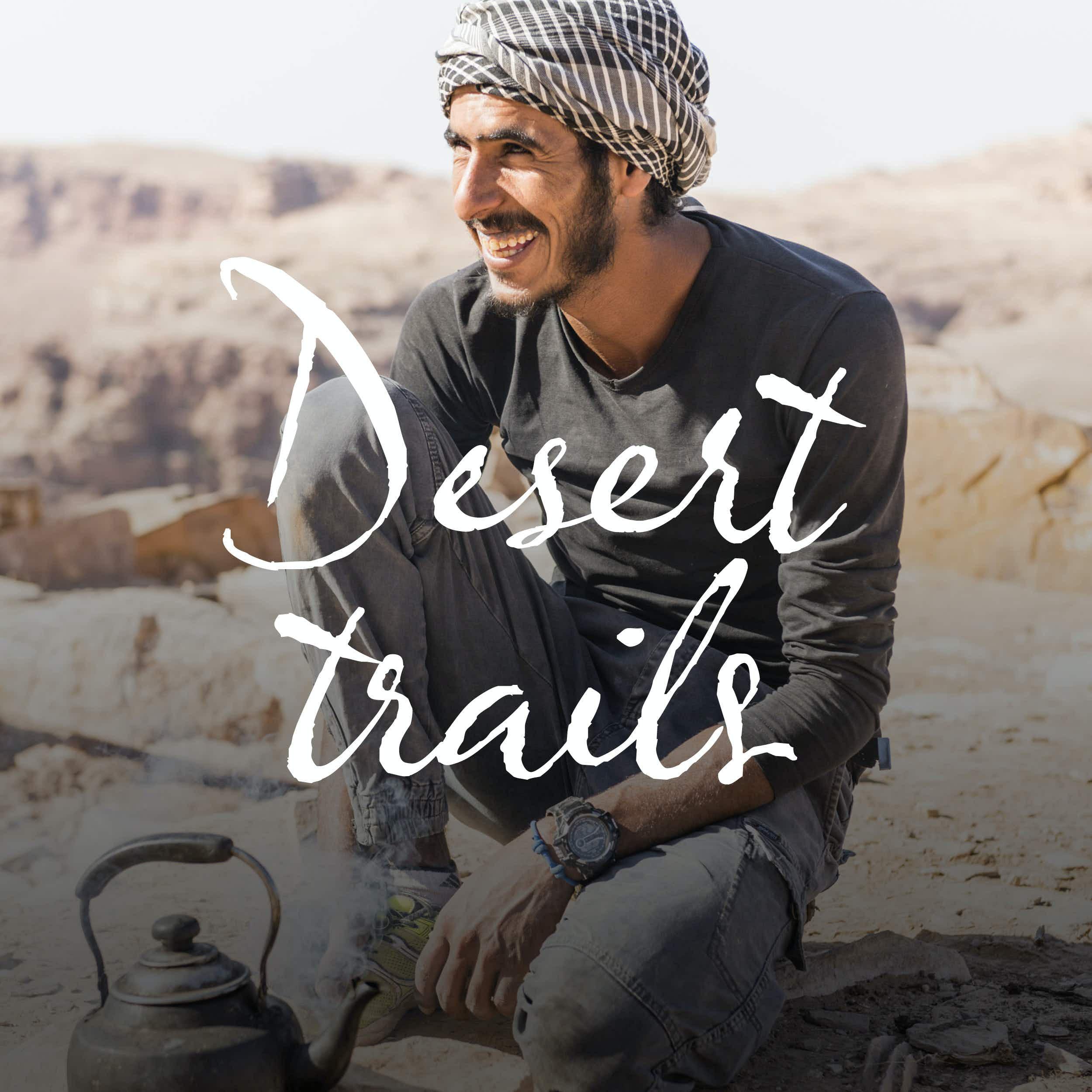 Hiking guide Mohammed Al Homran prepares a pot of tea