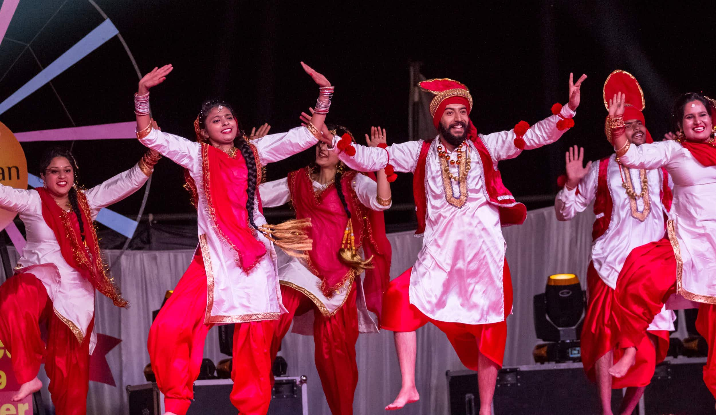 Artist Performing Bhangra Dance : Bikaner, Rajasthan/India - Jan 2019; Shutterstock ID 1368920021; Your name (First / Last): William Broich; GL account no.: 65050; Netsuite department name: Editorial ; Full Product or Project name including edition: 65050/Online Editorial/Alicia Johnson/best dances from around the world you can do at home