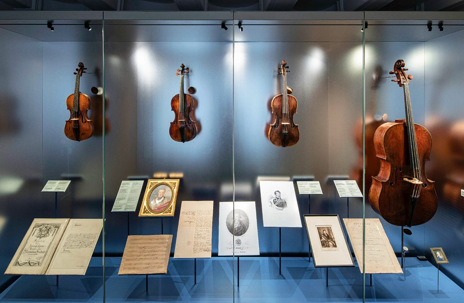 Exhibits on display at Beethoven Haus
