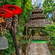 The gardens of Wat Phan Tao in Chiang Mai.