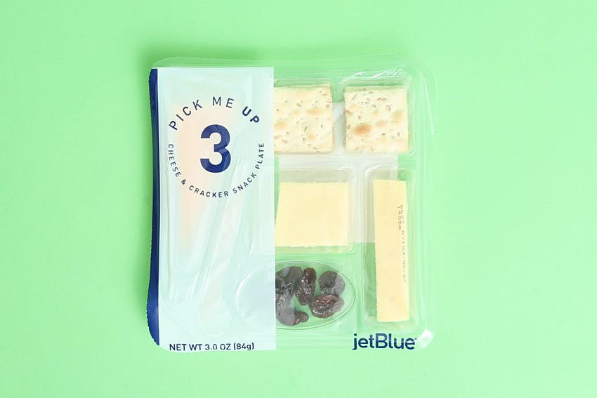The JetBlue cheese pack
