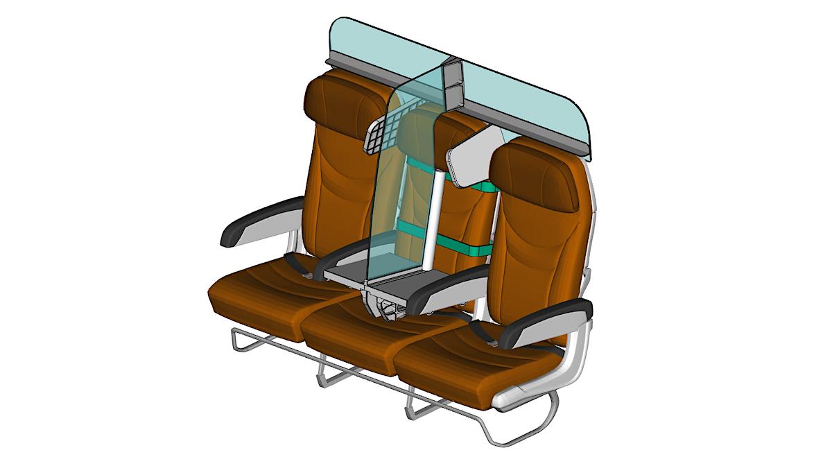 PlanBay: este assento pode garantir a distância social a bordo de um avião