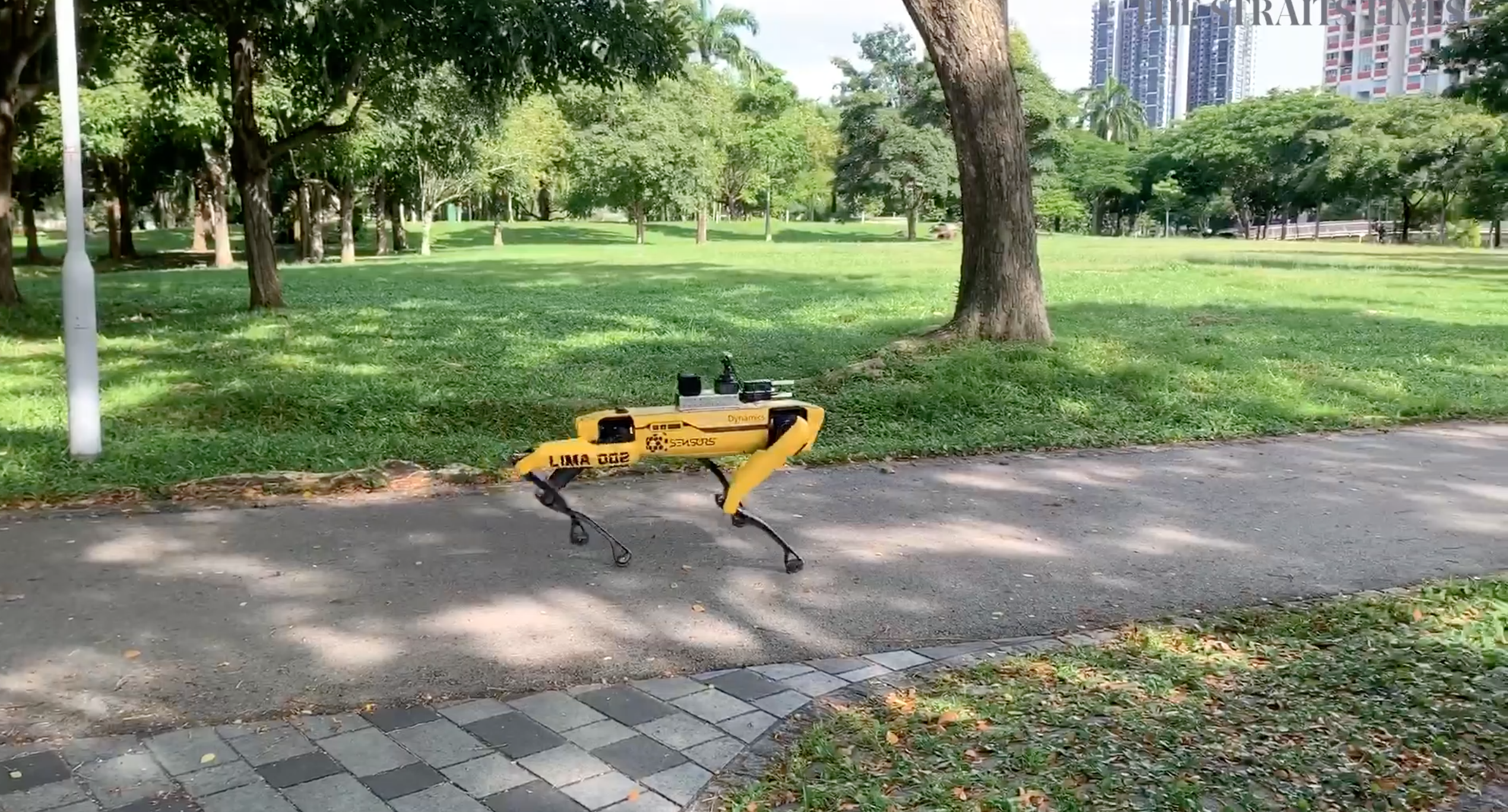 Spot the robot dog on patrol in Singapore
