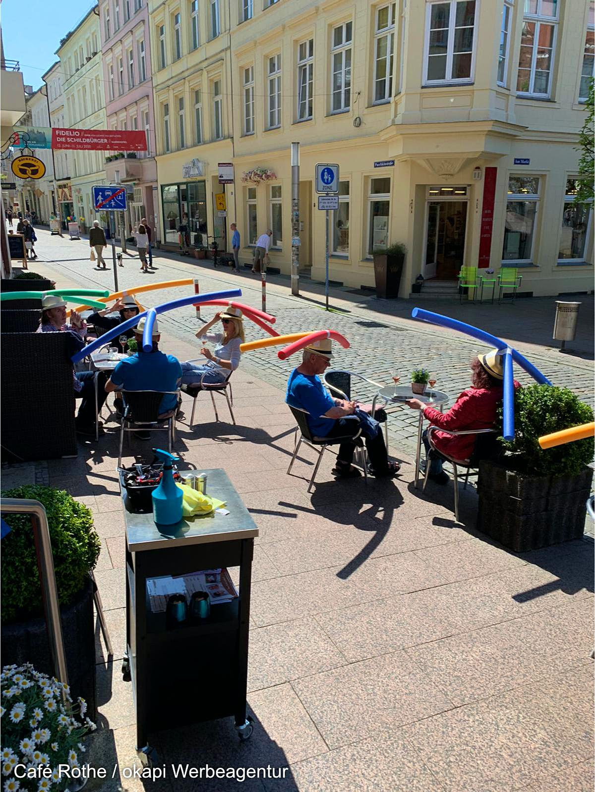 German café finds hilarious way to encourage social distancing - Lonely Planet