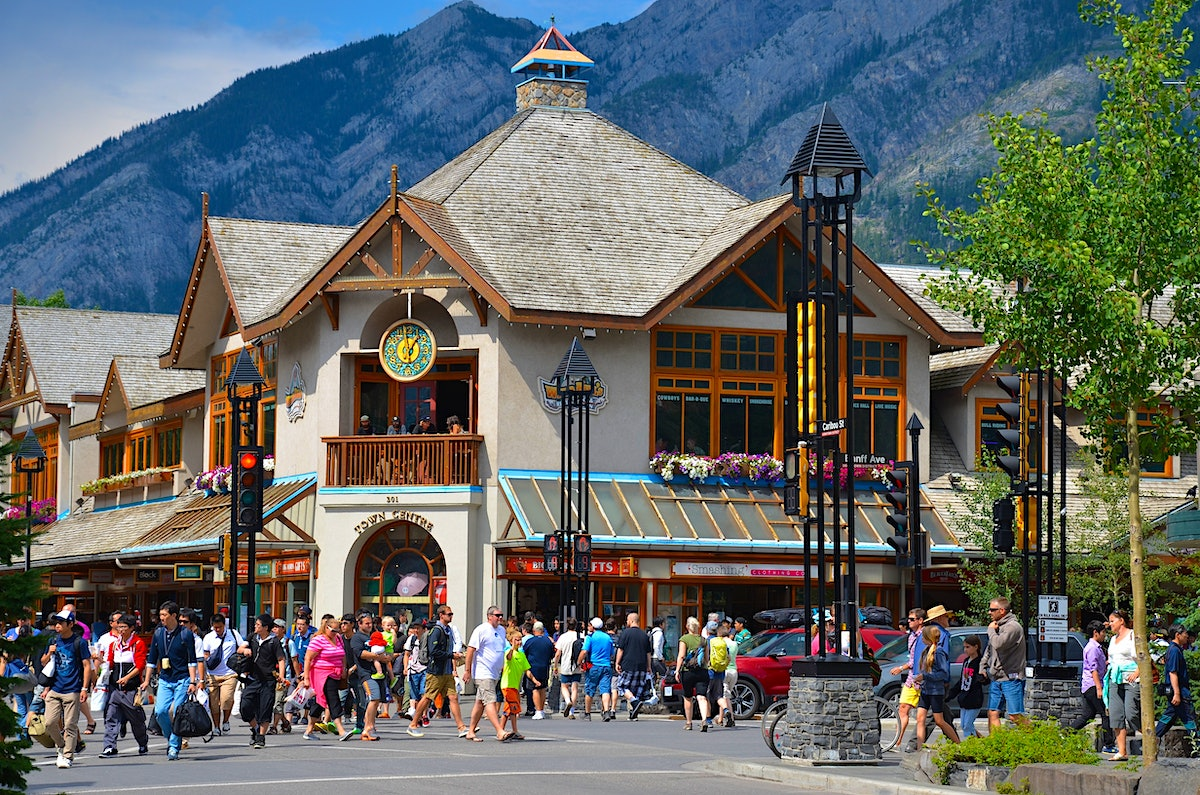 The Canadian mountain town of Banff is re-opening to visitors