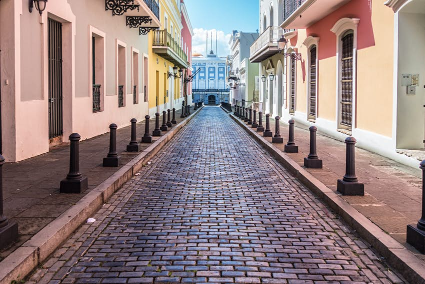 Cobble Street in Old San Juan Puerto Rico.