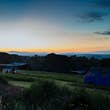 Sunset over Cowpots Camping, Wales © Percolated Design