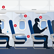 Delta Airlines have confirmed middle seats will be empty until September © Delta Airlines