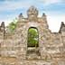 Gate in Pura Luhur Uluwatu temple on Bali, Indonesia