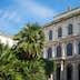Rome, Italy - March 10, 2014: The  Palazzo Barberini facade seen from the entrance garden