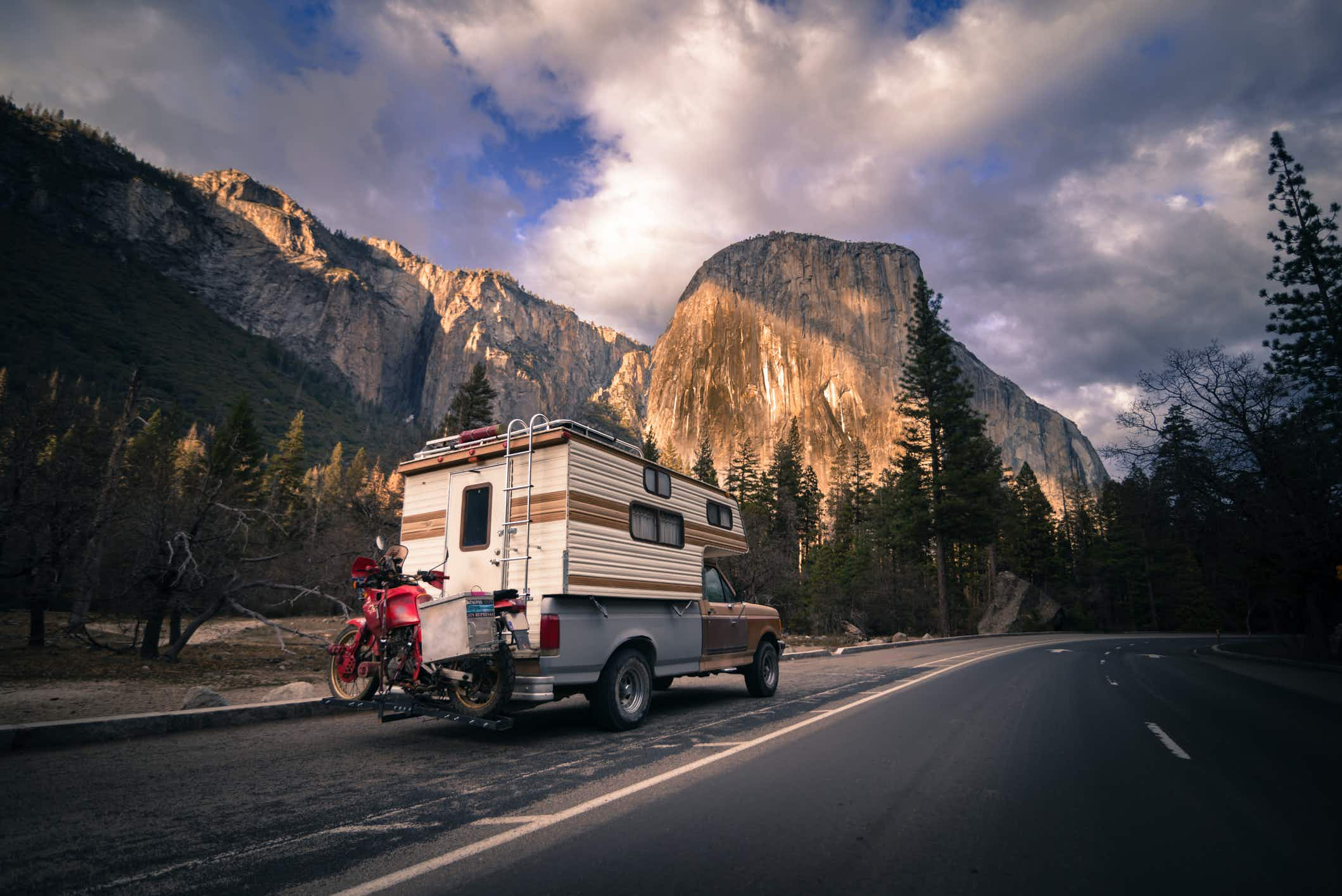 Enjoy incredible scenery like Yosemite National Park and a lot of flexibility when road tripping in a camper van  © Getty Images