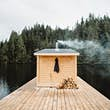 Guests can watch the water as they soak in the Finish-style sauna © Nathaniel Atakora