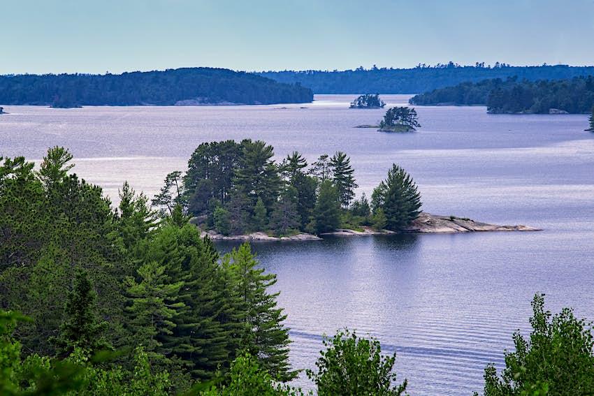 Lake Kabetogama, evening, Voyageurs National Park, Minnesota, USA.