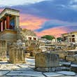 Ruins of Knossos Palace in Crete.
