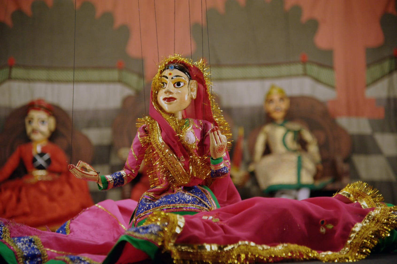The puppetry art of India