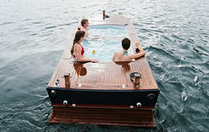You and five friends can rent a hot tub boat in Seattle