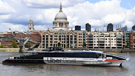 Commuters can sail to work in London with Uber Boat