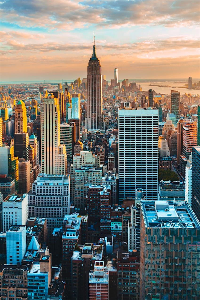 View of Manhattan during a summer sunset