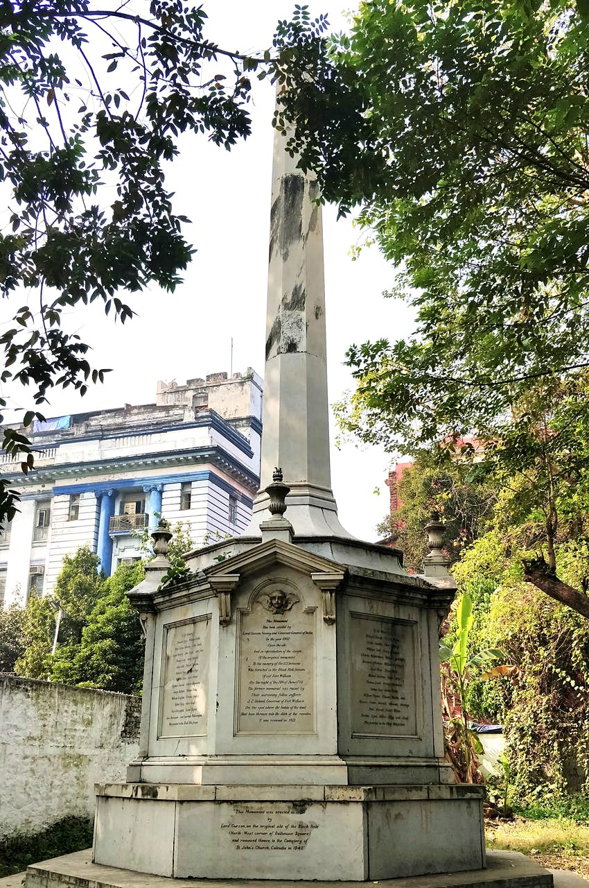 IMG-20181231-122256Memorial of the Black Hole, a tragedy that turned the fortune of Calcutta forever and made it a British bastion..JPG