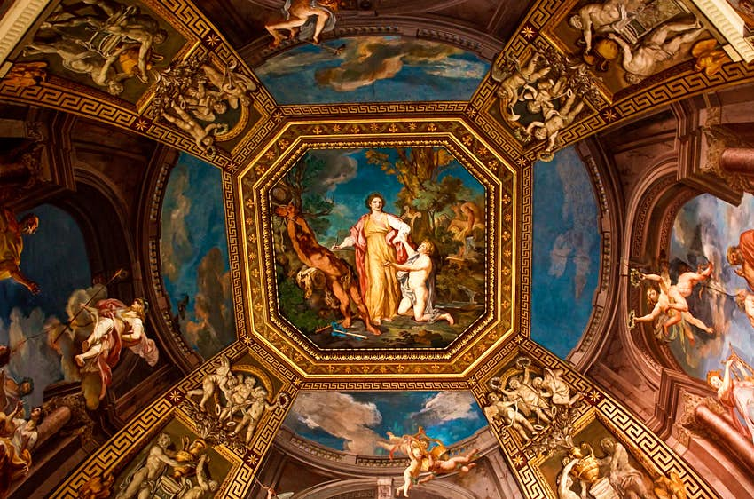 Ceiling of Sistine Chapel, Vatican City. Check permissions for this image