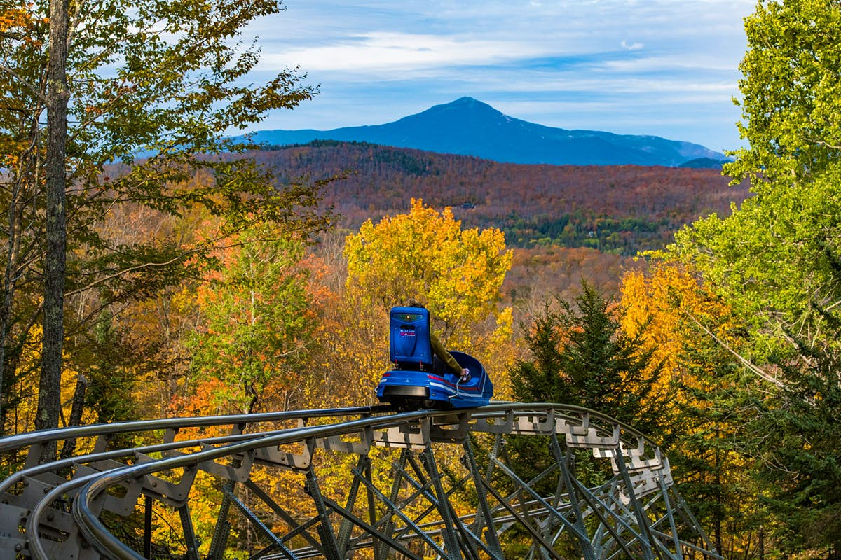 Coast through fall foliage on the longest mountain coaster in the US - Lonely Planet