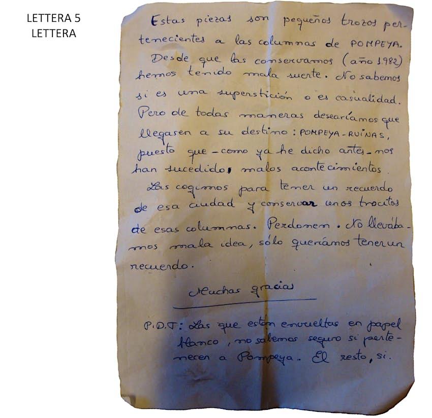 Pompeii Letter