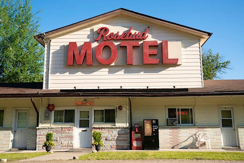 The facade of Schitt's Creek Rosebud Motel