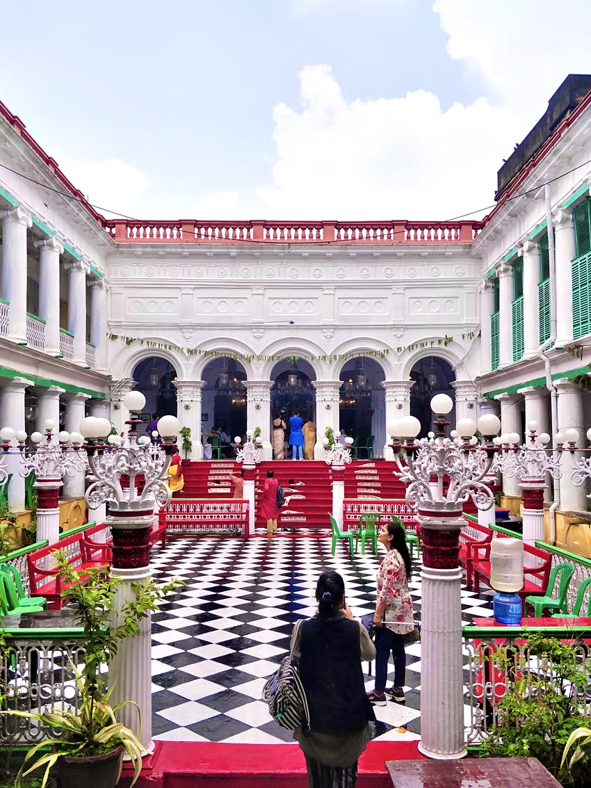The large courtyards that have been the site for Bari Pujos across Bengal..JPG