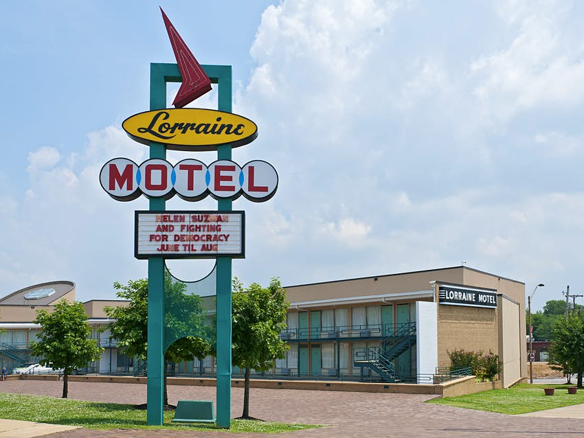 National Civil Rights Museum housed in the Lorraine Motel, where Martin Luther King Jr. was assassinated