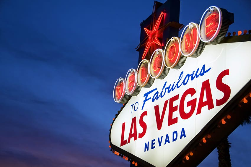 """A sign reading """"Welcome to Las Vegas"""""""