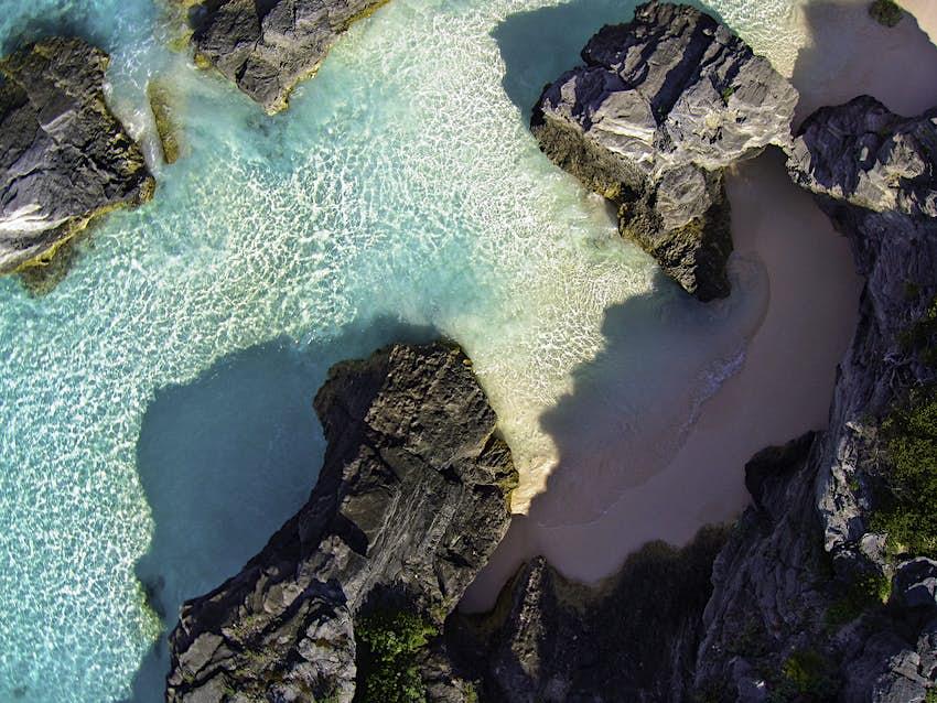 Rocky Shores Near Bermuda's Horseshoe Bay