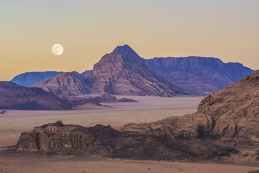 Landsccape with moon.
