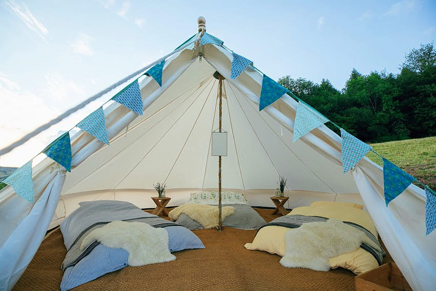 UK glamping company recycles music festival tents