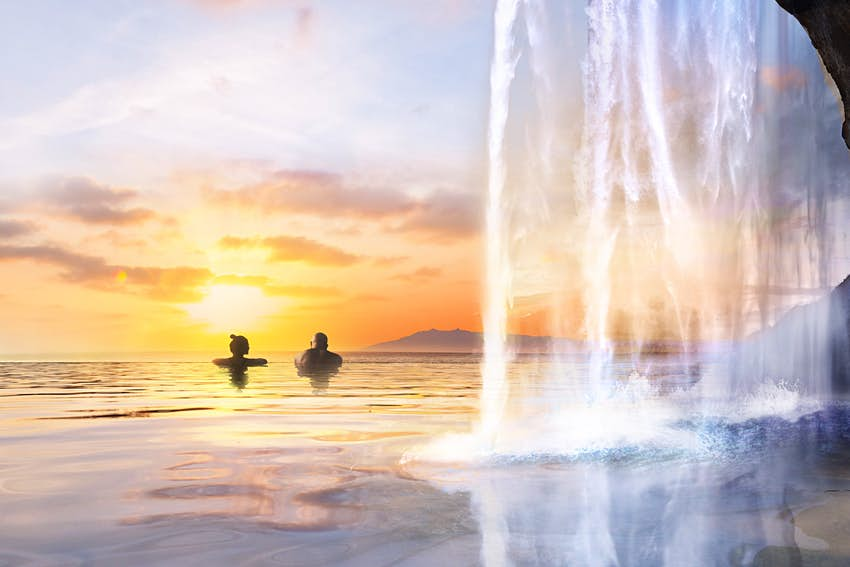 A rendering of Sky Lagoon in Iceland