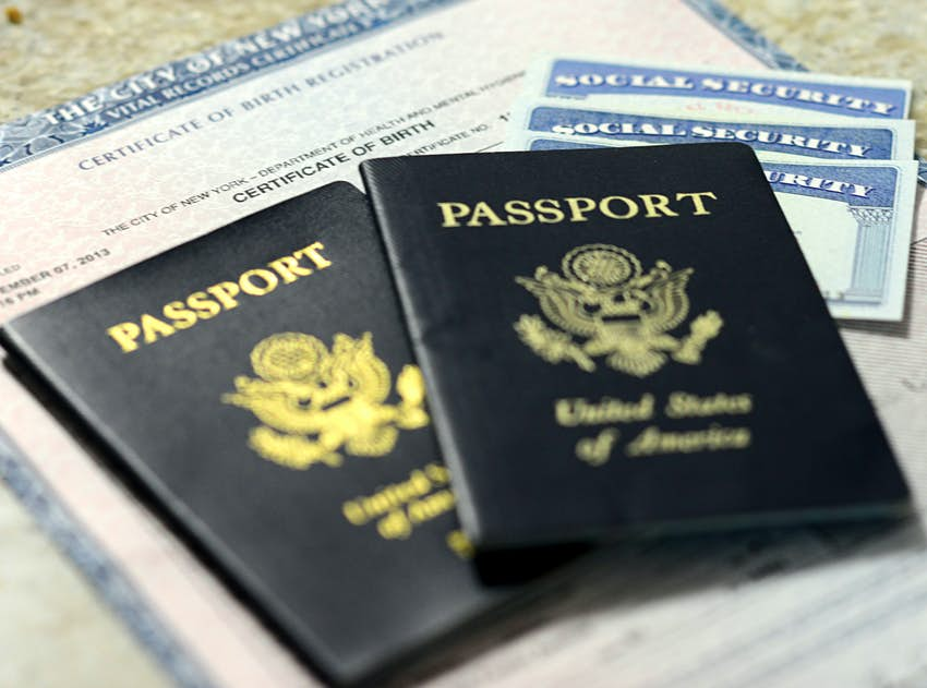 Social Security cards and US passports
