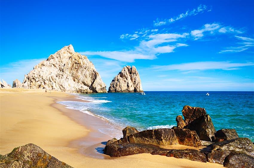 A pristine deserted beach in Baja California, Mexico