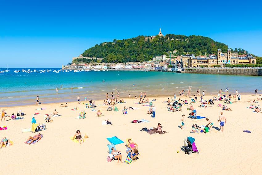 La Concha beach in a sunny day