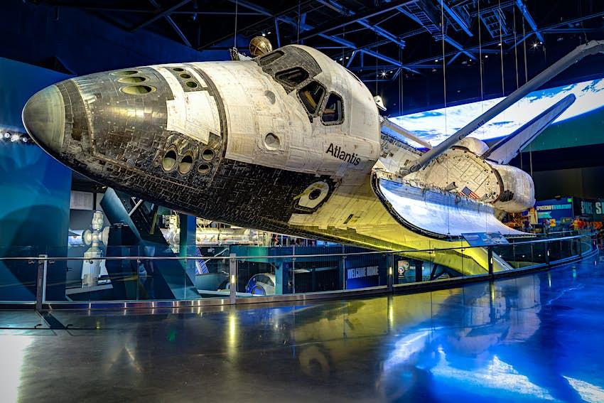 An exhibit housing the NASA Space Shuttle