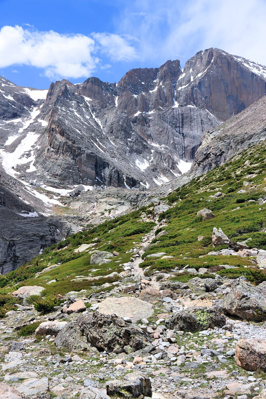 Trail to Longs Peak in Rocky Mountain National Park, Colorado