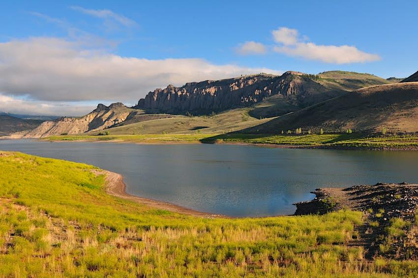 Lakeshore of Blue Mesa Reservoir in Colorado